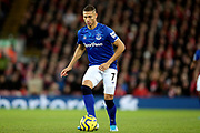 Everton forward Richarlison (7) during the Premier League match between Liverpool and Everton at Anfield, Liverpool, England on 4 December 2019.