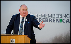 Image ©Licensed to i-Images Picture Agency. 08/07/2014. London, United Kingdom. Eric Pickles speaking at the Srebrenica Memorial Reception at Lancaster House. Picture by Andrew Parsons / i-Images