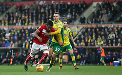 Kasey Palmer of Bristol City tussles for the ball with Tom Trybull of Norwich City - Mandatory by-line: Arron Gent/JMP - 23/02/2019 - FOOTBALL - Carrow Road - Norwich, England - Norwich City v Bristol City - Sky Bet Championship