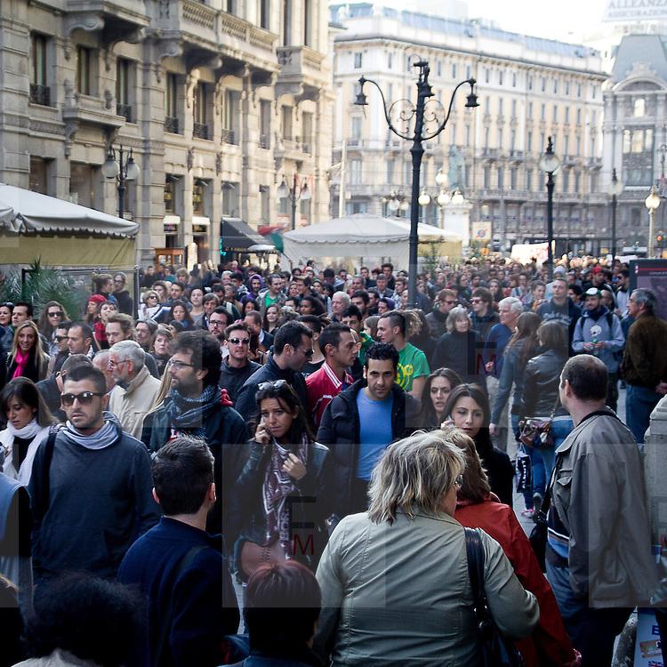 The Indignados demonstration in Milan