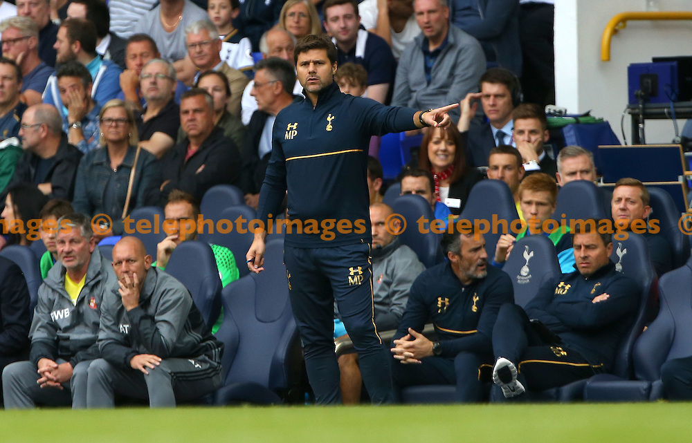 Tottenham&rsquo;s Manager Mauricio Pochettino during the Premier League match between Tottenham Hotspur and Sunderland AFC at White Hart Lane in London. September 18, 2016.<br /> James Boardman / Telephoto Images<br /> +44 7967 642437