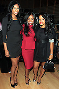 October 16, 2012-New York, NY : (L-R) Reality TV Personality Jennifer Williams, Tamika Mallory, National Action Network National Executive Director and Recording Artist Mashonda at the 3rd Annual National Action Network Triumph Awards held at Jazz at Lincoln Center on October 16, 2012 in New York City. The Triumph Awards were established by the National Action Network to recognize the contributions of humanitarians from all walks of life and to encourage future generations to drum majors for justice. (Terrence Jennings)