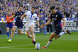 February 23, 2019 - Saint Denis, Seine Saint Denis, France - The Fly-Halfof Scotland team PETER HORNE in action during the Guinness Six Nations Rugby tournament between France and Scotland at the Stade de France - St Denis - France..France won 27-10 (Credit Image: © Pierre Stevenin/ZUMA Wire)