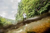 Man fy fishing in Virginia and West Virginia.