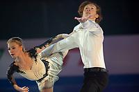 KELOWNA, BC - OCTOBER 24: Pairs bronze medalists Evgenia Tarasova and Vladimir Morozov perform during the gala of Skate Canada International at Prospera Place on October 24, 2019 in Kelowna, Canada. (Photo by Marissa Baecker/Shoot the Breeze)
