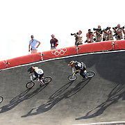 Riders in action during the Women's competition in the Cycling BMX Finals Day during the London 2012 Olympic games. London, UK. 10th August 2012. Photo Tim Clayton