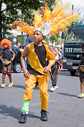 Young boy in fancy dress at the Nottingham City Carnival; 2007,