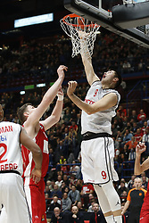 November 17, 2017 - Milan, Milan, Italy - Luka Mitrovic (#9 Brose Bamberg) shoots a layup during a game of Turkish Airlines EuroLeague basketball between  AX Armani Exchange Milan vs Brose Bamberg at Mediolanum Forum, on November 17, 2017 in Milan, Italy. (Credit Image: © Roberto Finizio/NurPhoto via ZUMA Press)