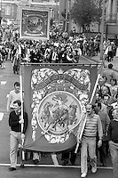 Ackton Hall Branch banner,1983 Yorkshire Miner's Gala. Barnsley.