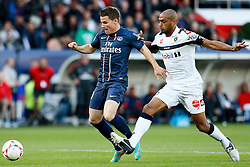 29.09.2012, Stade de Parc des Princes, Paris, FRA, Ligue 1, Paris St. Germain vs FC Sochaux, 7. Runde, im Bild KEVIN GAMEIRO (PARIS SAINT-GERMAIN), CEDRIC KANTE (SOCHAUX) // during the French Ligue 1 7th round match between Paris St. Germain and FC Sochaux at the Stade de Parc des Princes, Paris, France on 2012/09/29. EXPA Pictures © 2012, PhotoCredit: EXPA/ PicAgency Skycam/ Chris Elise..***** ATTENTION - OUT OF SWE *****