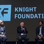 FEBRUARY 19, 2018--MIAMI, FLORIDA-<br /> From left; Dana Priest, journalist and educator, Floyd Abrams, attorney, Jameel Jaffer, director, Knight First Amendment Institute at Columbia University. This was following a screening of the movie The Post. This was part of the opening reception for the Knight Media Forum.<br /> (Photo by Angel Valentin)