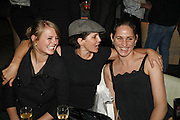 JEMIMA FRENCH, SADIE FROST AND ROSEMARY FERGUSON, Luella Bartley Dinner, Nobu, Berkeley St. 16 May 2006. ONE TIME USE ONLY - DO NOT ARCHIVE  © Copyright Photograph by Dafydd Jones 66 Stockwell Park Rd. London SW9 0DA Tel 020 7733 0108 www.dafjones.com