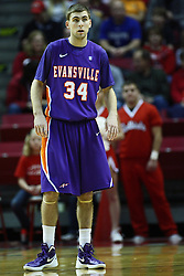 07 January 2012:  Denver Holmes during an NCAA Missouri Valley Conference mens basketball game Where the Purple Aces of Evansville lost to the Illinois State Redbirds 75-73 in Redbird Arena, Normal IL