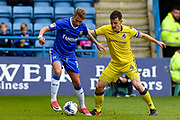 Gillingham midfielder Lee Martin (14)  and Bristol Rovers defender Tom Lockyer (4) during the EFL Sky Bet League 1 match between Gillingham and Bristol Rovers at the MEMS Priestfield Stadium, Gillingham, England on 14 April 2017. Photo by Martin Cole.