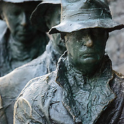 Statues depicting men in the Great Depression at the FDR Memorial in Washington DC.