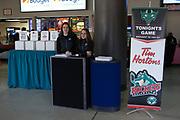 KELOWNA, CANADA - FEBRUARY 12:  Promotions at the Kelowna Rockets game on February 12, 2018 at Prospera Place in Kelowna, British Columbia, Canada.  (Photo By Cindy Rogers/Nyasa Photography,  *** Local Caption ***