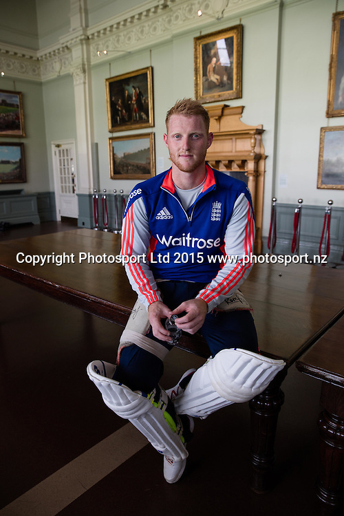 England allrounder, Ben Stokes, in the Long Room at Lord's Cricket Ground for the 2nd Investec Test Match versus Australia. Photo: Graham Morris (Tel: +44(0)20 8969 4192 Email: sales@cricketpix.com) 14/07/15