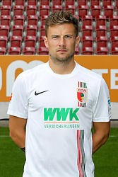 08.07.2015, WWK Arena, Augsburg, GER, 1. FBL, FC Augsburg, Fototermin, im Bild Daniel Baier #10 (FC Augsburg) // during the official Team and Portrait Photoshoot of German Bundesliga Club FC Augsburg at the WWK Arena in Augsburg, Germany on 2015/07/08. EXPA Pictures © 2015, PhotoCredit: EXPA/ Eibner-Pressefoto/ Kolbert<br /> <br /> *****ATTENTION - OUT of GER*****