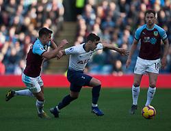 Ashley Westwood of Burnley (L) and Harry Winks of Tottenham Hotspur in action - Mandatory by-line: Jack Phillips/JMP - 23/02/2019 - FOOTBALL - Turf Moor - Burnley, England - Burnley v Tottenham Hotspur - English Premier League