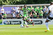 Forest Green Rovers Dale Bennett (6) runs with the ball  during the Vanarama National League match between Boreham Wood and Forest Green Rovers at Meadow Park, Boreham Wood, United Kingdom on 6 August 2016. Photo by Shane Healey.