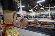 """20151204, Friday, December 4, 2015, North Easton, MA, USA; The Christmas program at My Brother's Keeper in Easton is planning to serve well over 2,700 families and over 11,000 parents and children for 2015.<br />  <br /> The regional Christian Ministry, based in North Easton Massachusetts, prepared before the first full day of the annual volunteer-fueled Christmas program when there will be a warehouse facility full of wrapping volunteers and gifts waiting to be selected and wrapped.<br /> <br /> The charity gift giving and wrapping program, in it's 25th year, is ongoing in """"Santa's Workshop"""" during the Advent season 11 a.m. to 8 p.m. each day.<br /> <br /> ( lightchaser photography © 2015 )"""