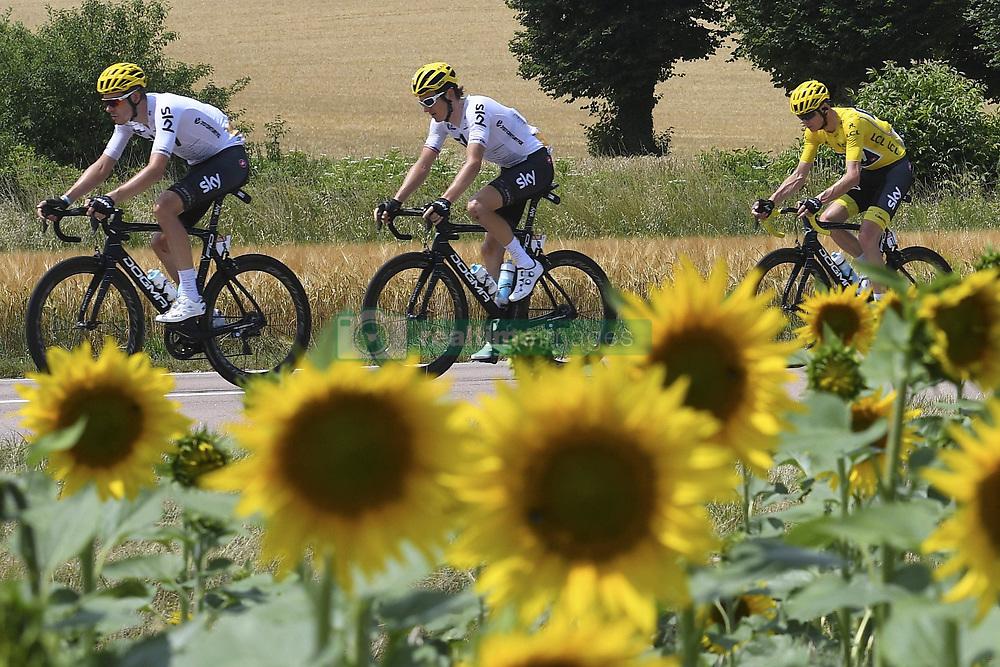 July 7, 2017 - France - THOMAS Geraint (GBR) Rider of Team SKY, FROOME Christopher (GBR) Rider of Team SKY (Credit Image: © Panoramic via ZUMA Press)