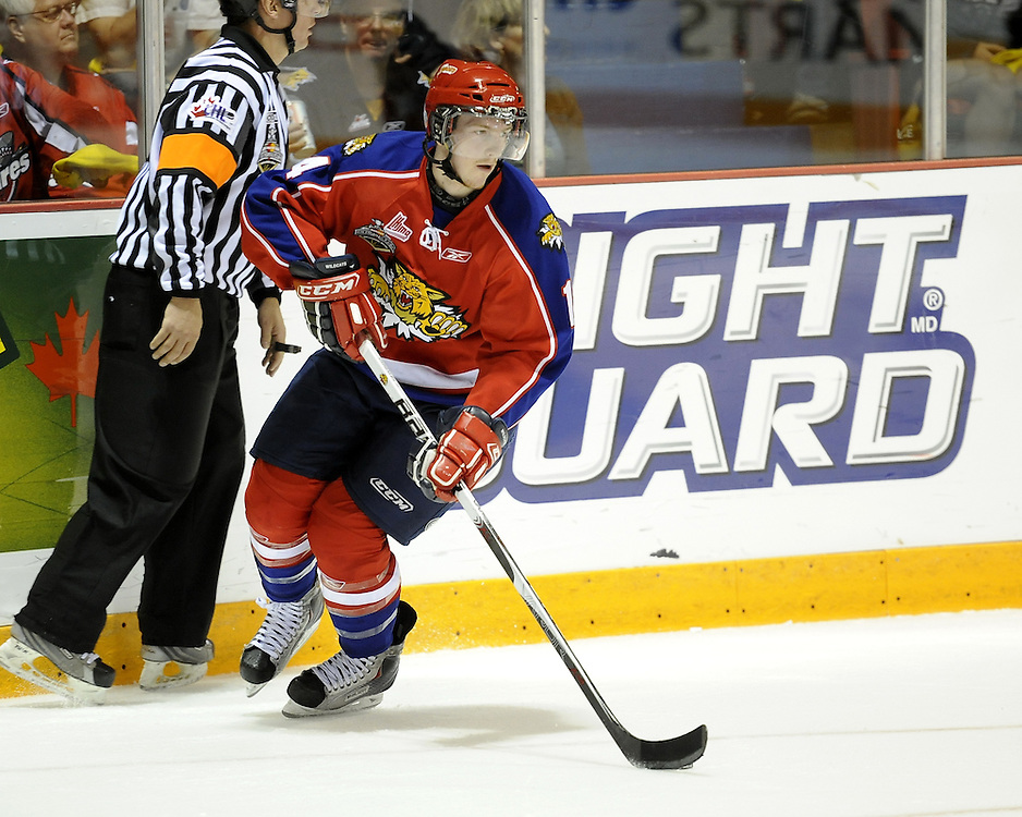 Ted Stephens of the Moncton Wildcats in Game 3 of the 2010 MasterCard Memorial Cup in Brandon, MB on Sunday May 16. Photo by Aaron Bell/CHL Images