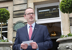 Chris Lynch, general manager of the exclusive Nira Caledonia hotel in Edinburgh which was reopened today after a £1.4m investment to repair damage caused by fire. Pic copyright by Terry Murden @edinburghelitemedia