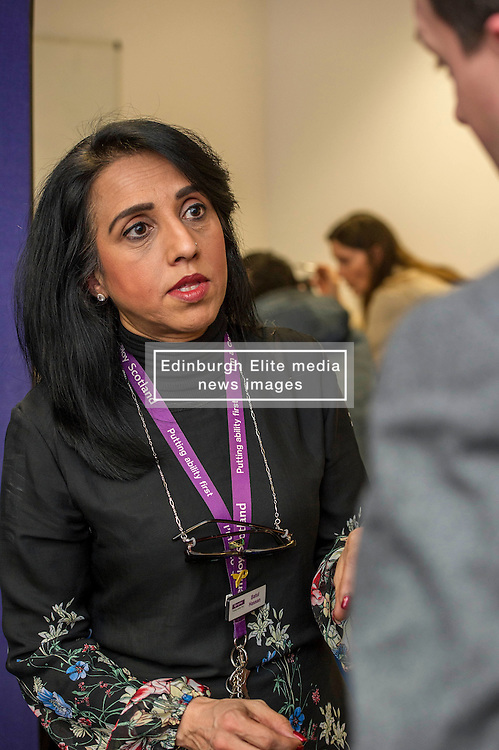 Pictured: Butal Hassan.<br /> <br /> Today, Minister for employability and training, Jamie Hepburn MSP visited Remploy in Edinburgh where he announced new employment services funding. Mr Hepburn gave details on cash which will develop new ways of supporting the Scottish Government's new devolved employment services. <br /> <br /> Ger Harley   EEm 21 December 2016