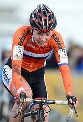 01-02-2014 WIELRENNEN: UCI CYCLO-CROSS WORLD CHAMPIONSHIPS: HOOGERHEIDE <br /> WK veldrijden in Hoogerheide / Annefleur Kalvenhaar<br /> ©2014-FotoHoogendoorn.nl