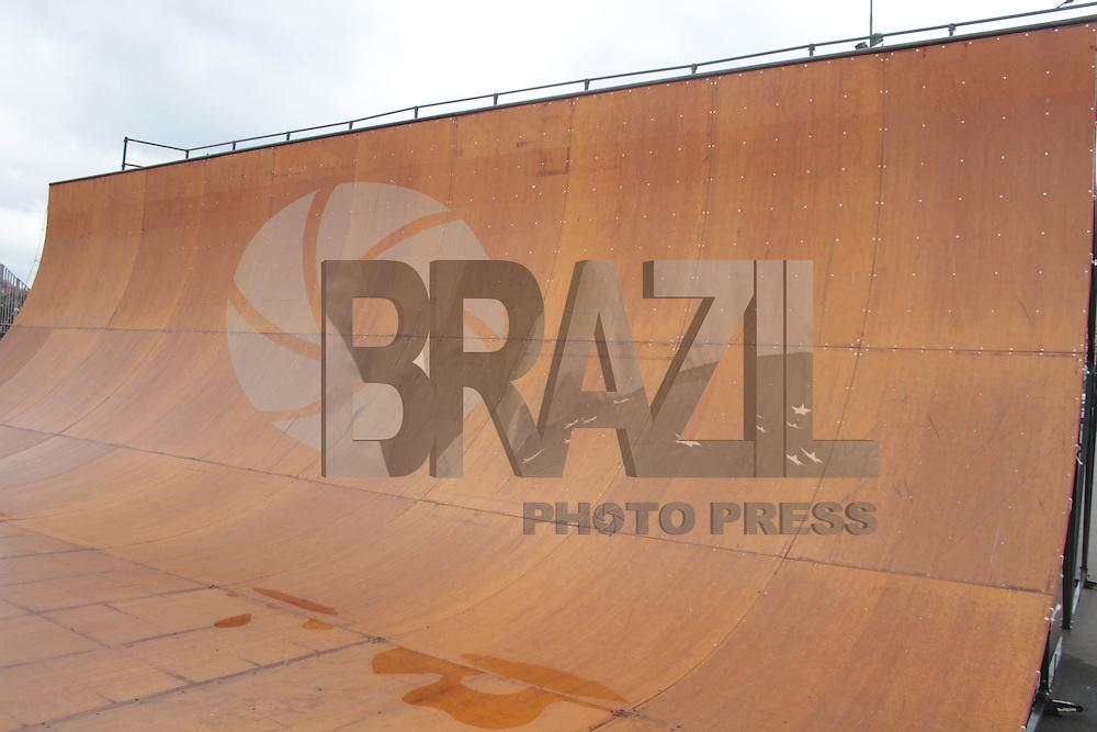 São Paulo 8 de Agosto 2014. Museu do Ipiranga pista de Skate montada para o evento que acontece Sabado e Domingo a partir das 09:00 Foto: Carlos Pessuto/Brazil Photo Press.