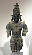 Hindu god Vishnu, 11th century to12th century. schist sculpture from Gwalior, India