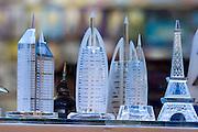 Bur Dubai Souq. Burj Al Arab paperweights.