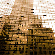reflection of a building in a building