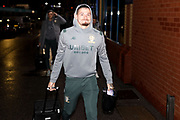 Leeds United midfielder Kalvin Phillips (23) arriving during the EFL Sky Bet Championship match between Leeds United and Hull City at Elland Road, Leeds, England on 10 December 2019.