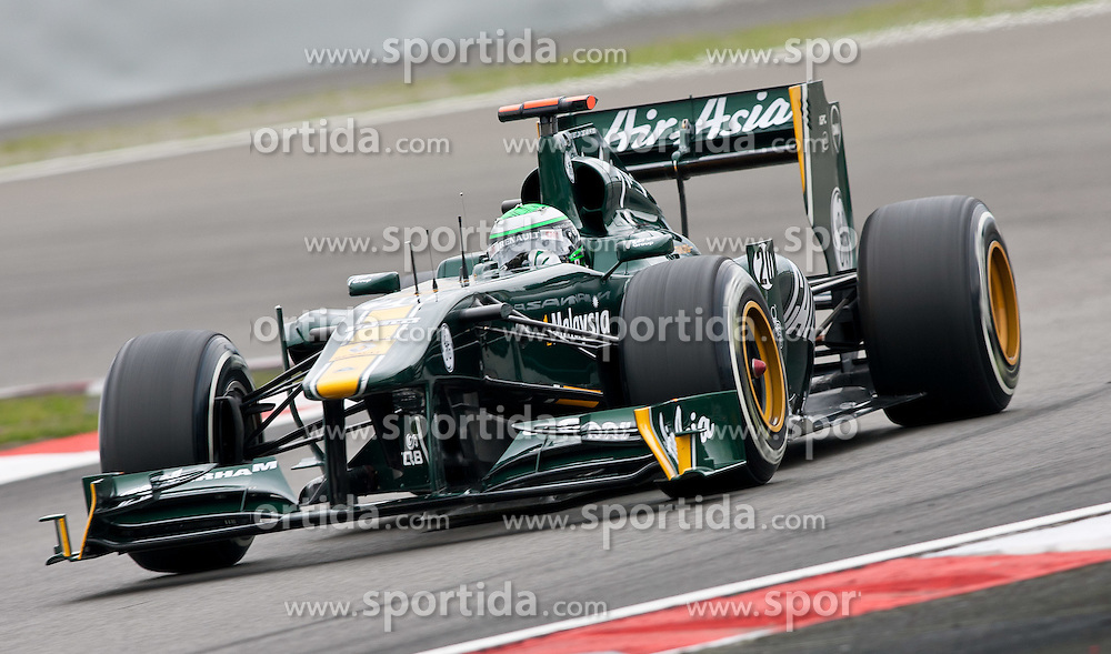 22.07.2011, Nuerburgring, Adenau, GER, F1, Grosser Preis von Deutschland, Nürburgring, zweites freies Training , im Bild Heikki Kovalainen (FIN), Team Lotus // during Practice 2 at Formula One Championships 2011 German Grand Prix held at the Nuerburgring, Adenau, Germany, 22/7/2011, EXPA Pictures © 2011, PhotoCredit: EXPA/ J. Groder