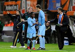 17-11-2009 VOETBAL: JONG ORANJE - JONG SPANJE: ROTTERDAM<br /> Nederland wint met 2-1 van Spanje / Vurnon Anita en Bas Dost<br /> ©2009-WWW.FOTOHOOGENDOORN.NL
