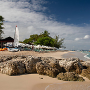 Beach in Holetown, Barbados on the West Coast