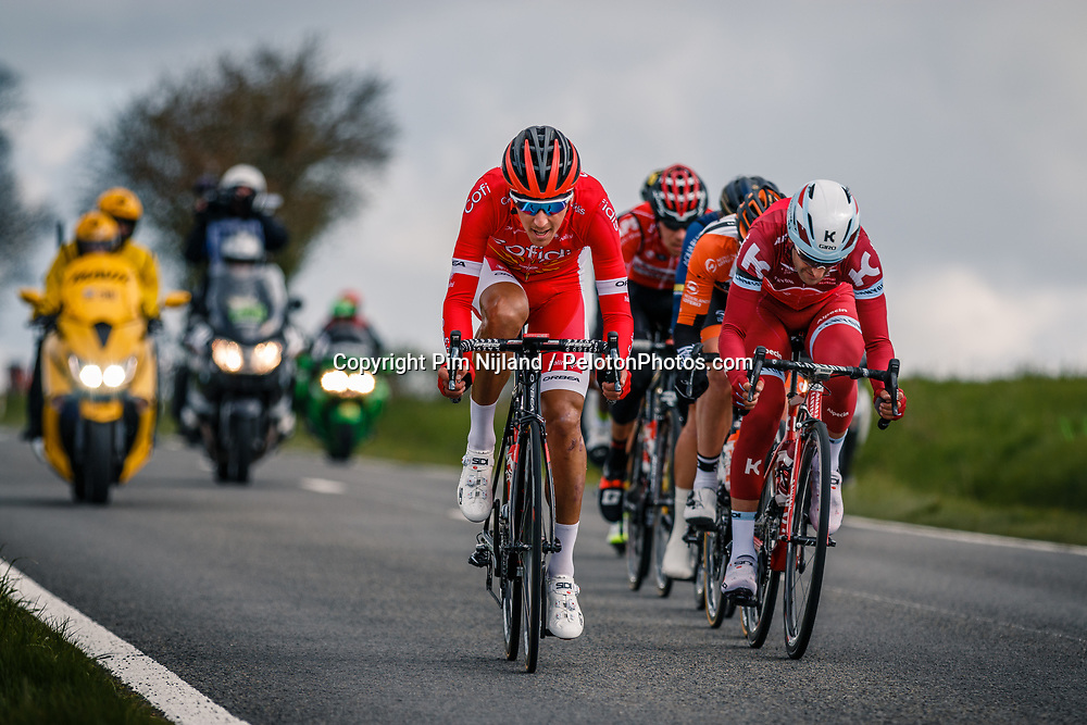 Leading group with rider of Cofidis, Solutions Crédits during the UCI WorldTour 103rd Liège-Bastogne-Liège from Liège to Ans with 258 km of racing at Deigne (238 km to go), Belgium, 23 April 2017. Photo by Pim Nijland / PelotonPhotos.com | All photos usage must carry mandatory copyright credit (Peloton Photos | Pim Nijland)
