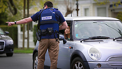Armed Offenders Squad from Auckland Central scrambled to Korau Road, Greenlane taking one male into custody following reports and the sighting of 'male with a gun', Auckland, New Zealand, Thursday, October 05, 2017. Credit:SNPA / Hayden Woodward **NO ARCHIVING**