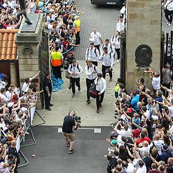 The England Team arrive