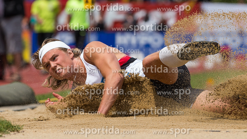 28.05.2016, Moeslestadion, Goetzis, AUT, 42. Hypo Meeting Goetzis 2016, Zehnkampf der Herren, Weitsprung, im Bild Frederik Samuelsson (SWE) // Frederik Samuelsson of Sweden in action during the long jump event of the Decathlon competition at the 42th Hypo Meeting at the Moeslestadion in Goetzis, Austria on 2016/05/28. EXPA Pictures © 2016, PhotoCredit: EXPA/ Peter Rinderer