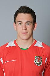 SWANSEA, WALES - Monday, March 30, 2009: Wales' Under-21 Jonathan Brown. (Photo by David Rawcliffe/Propaganda)