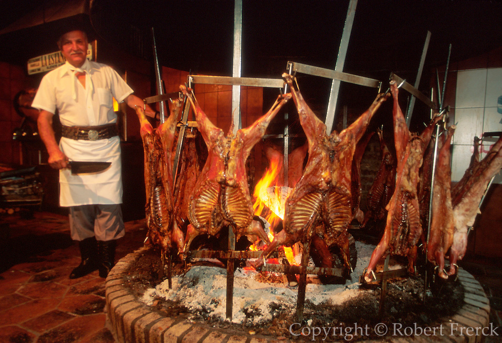 ARGENTINA, BUENOS AIRES, CITY CENTER La Estancia, famous restaurant specializing in traditional 'parrillas', meats grilled over an open fire