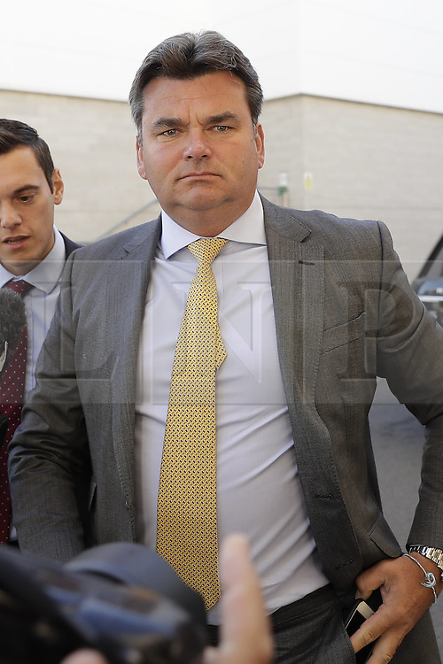 © Licensed to London News Pictures. 23/08/2016. London, UK. BHS buyer Dominic Chappell appears at Aldershot Magistrates court. Mr Chappell has already pleaded guilty to speeding in Andover in April 2016. He faces a driving ban as he already has 10 points on his licence. Photo credit: Peter Macdiarmid/LNP