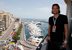 MONTE-CARLO, MONACO - Sunday, May 24, 2009: Schalke 04 football player Kevin Kuranyi during the Monaco Formula One Grand Prix at the Monte-Carlo Circuit. (Pic by Juergen Tap/Hoch Zwei/Propaganda)