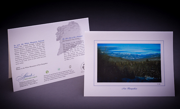 A winter scenic view looking towards the Presidential Range in NH. <br />