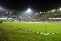 Fotball, 4. november 2003, Champions League,, Club Brugge ( Brügge )-Milan,  Jan Breydel stadion, Brugge, JanBreydel stadion, illustrasjon, fotballbane, cornerflagg