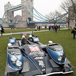 The Strakka LMP1 at the FIA-WEC series launch situated in Potters Fields overlooking Tower Bridge, London on the 22nd March 2013. WAYNE NEAL | STOCKPIX.EU