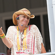 Kelly Plitz, mother of Waylon Roberts and ower of Bill Owen at the OLG Caledon Pan Am Equestrian Park during the Toronto 2015 Pan American Games in Caledon, Ontario, Canada.